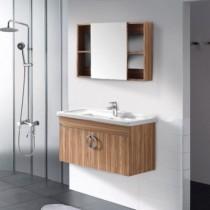 恒洁浴室柜HGE5603挂墙式多层实木
