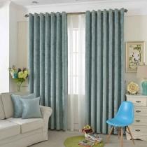 加厚特价简约现代纯色窗帘成品棉麻亚麻布料